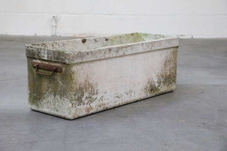 Modern Willy Guhl for Eternit Large Rectangular Planter with Handles, circa 1968 For Sale