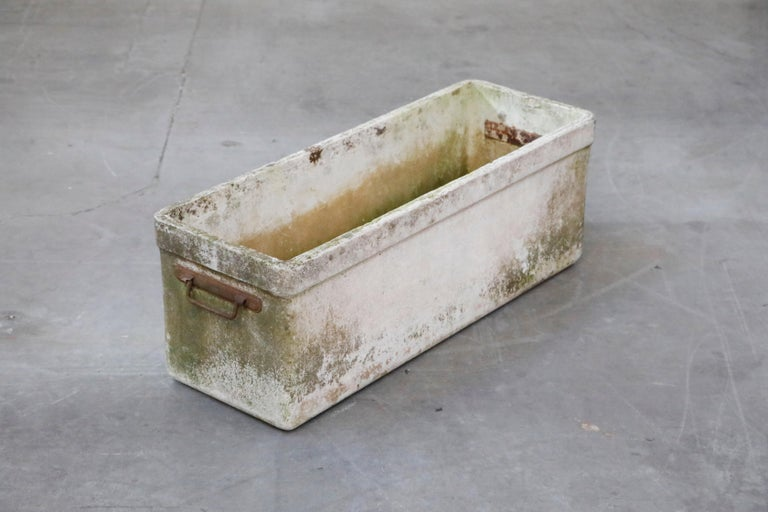 Swiss Willy Guhl for Eternit Large Rectangular Planter with Handles, circa 1968 For Sale