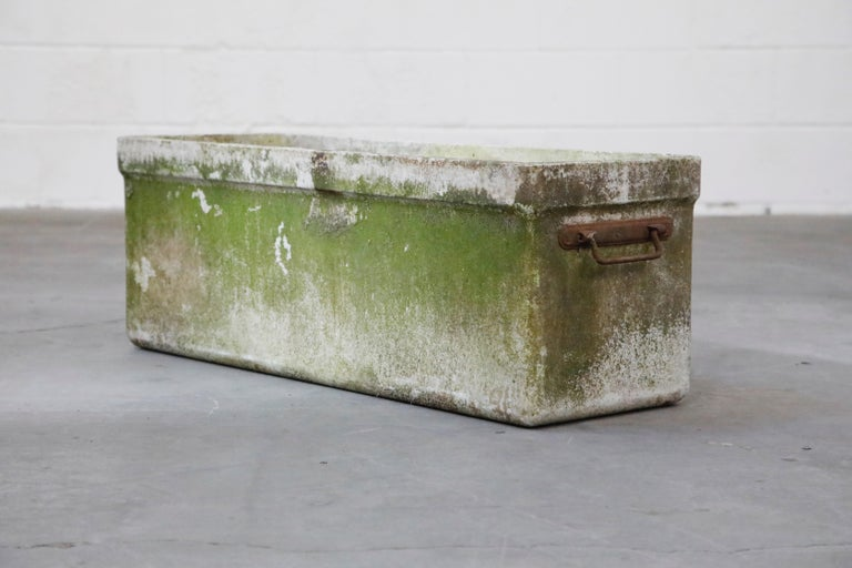 Mid-20th Century Willy Guhl for Eternit Large Rectangular Planter with Handles, circa 1968 For Sale