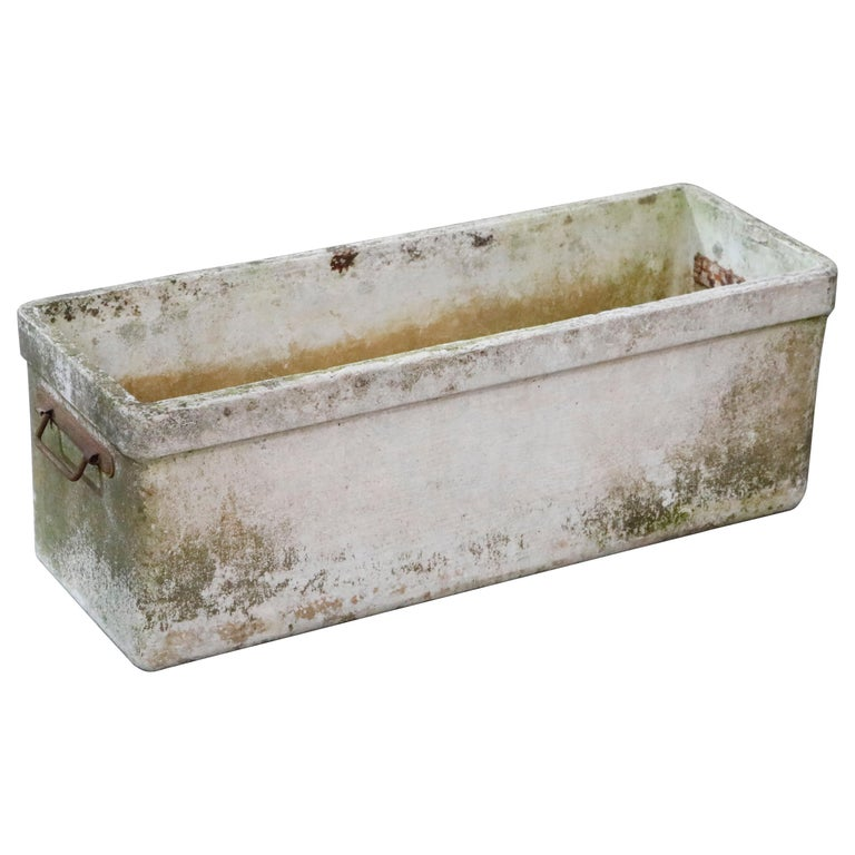Willy Guhl for Eternit Large Rectangular Planter with Handles, circa 1968 For Sale