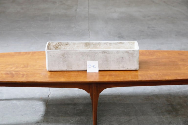 Willy Guhl for Eternit Rectangle Concrete Outdoor Planter, 1970s, Signed For Sale 9