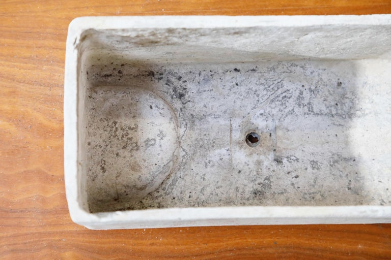 Late 20th Century Willy Guhl for Eternit Rectangle Concrete Outdoor Planter, 1970s, Signed For Sale