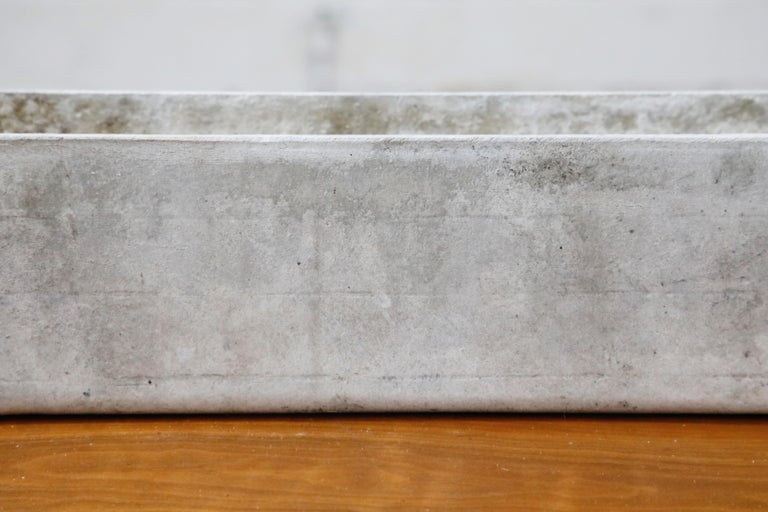 Willy Guhl for Eternit Rectangle Concrete Outdoor Planter, 1970s, Signed For Sale 1