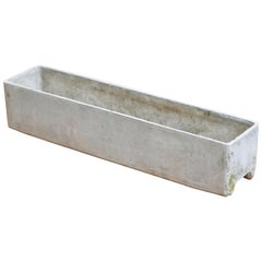Willy Guhl for Eternit Rectangle Concrete Outdoor Planter, Signed & Dated 1973
