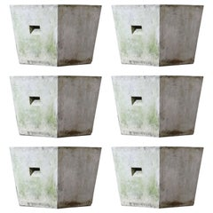 Willy Guhl for Eternit Trapezoid Concrete Planters with Handles, circa 1968