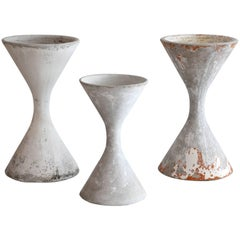Willy Guhl Hourglass Planters