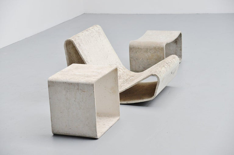 Concrete Willy Guhl Loop Chair Eternit AG Switzerland, 1954 For Sale