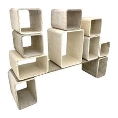 Willy Guhl Modular Concrete Bookcase