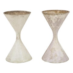 Pair of Willy Guhl Spindle Diabolo Planters