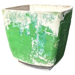 Willy Guhl Planter with Green Paint