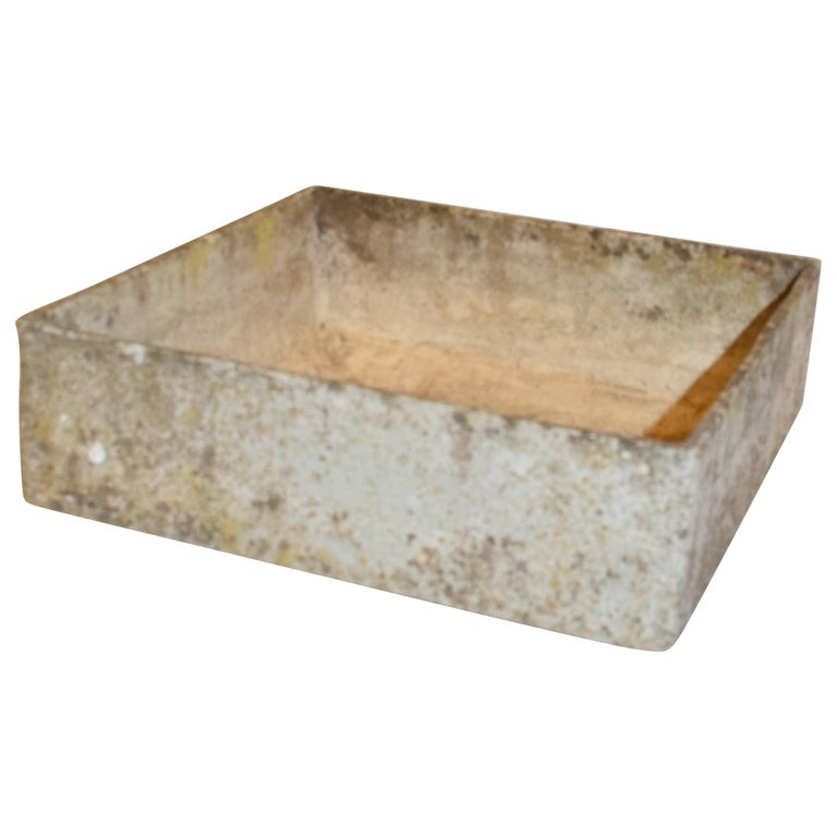Willy Guhl Square Planter, Mid-20th Century For Sale