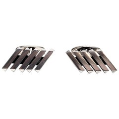 Willy Jacob Krogmar 'WKR' Sterling Silver Cuff Links