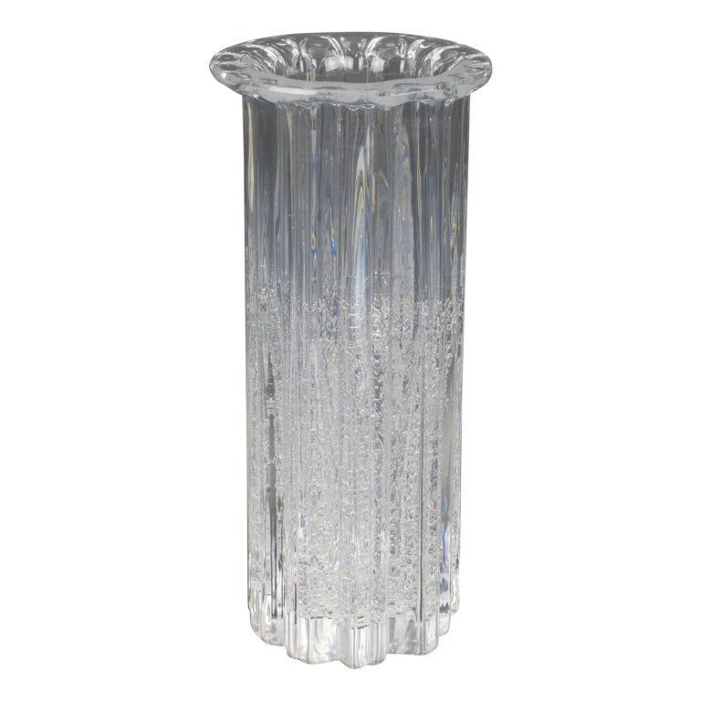 "Willy Johansson for Hadeland Norway Art-Glass ""Atlantic"" Tall Vase For Sale"
