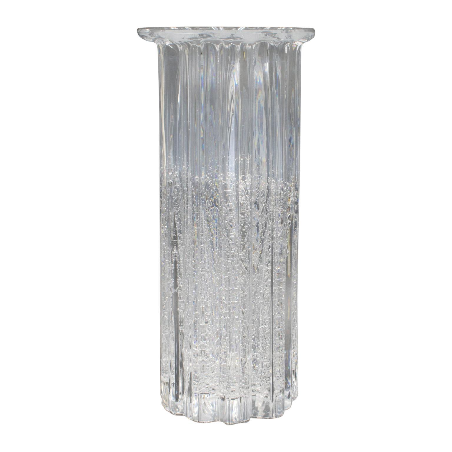 "Willy Johansson for Hadeland Norway Art-Glass ""Atlantic"" Tall Vase"