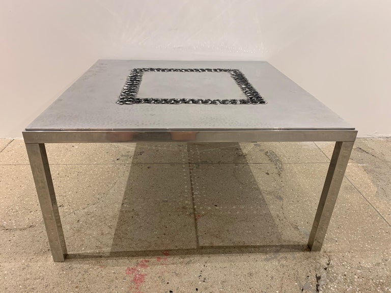 Willy Luckyx Aluclair Belgian One of a Kind 1970s Table For Sale 3