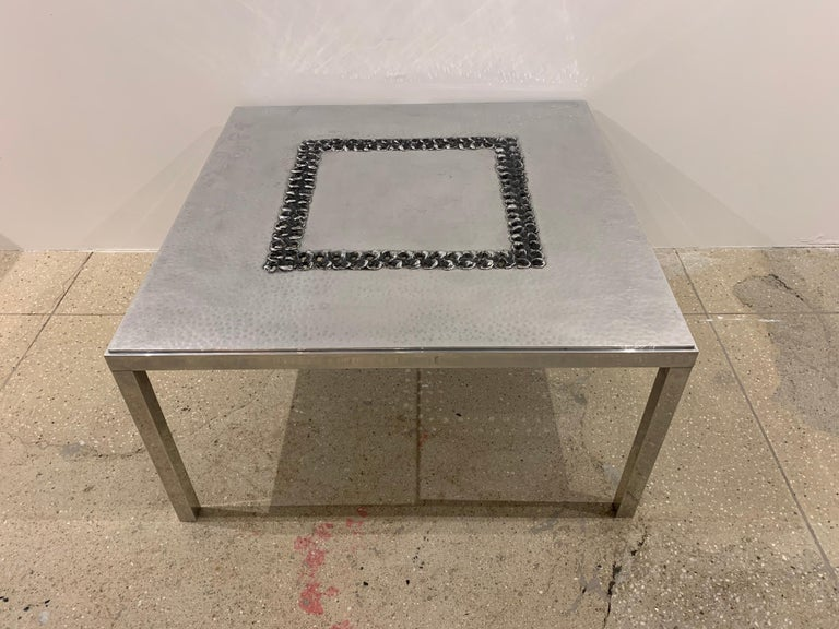 Willy Luckyx Aluclair Belgian One of a Kind 1970s Table For Sale 5