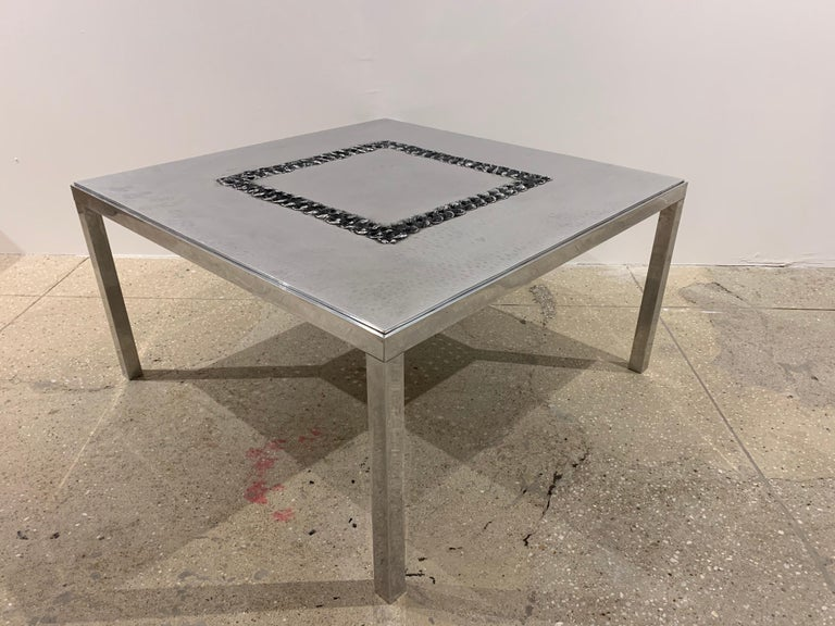 Willy Luckyx Aluclair Belgian One of a Kind 1970s Table For Sale 6