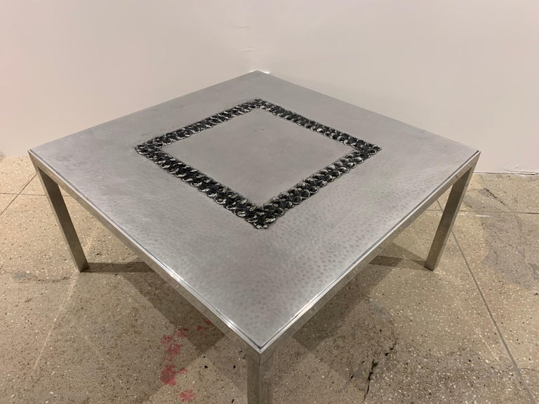 Willy Luckyx Aluclair Belgian One of a Kind 1970s Table For Sale 7