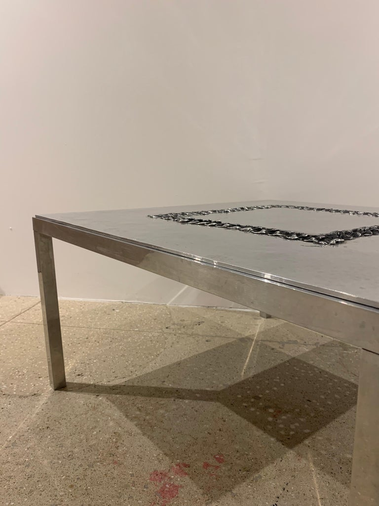 Willy Luckyx Aluclair Belgian One of a Kind 1970s Table For Sale 9