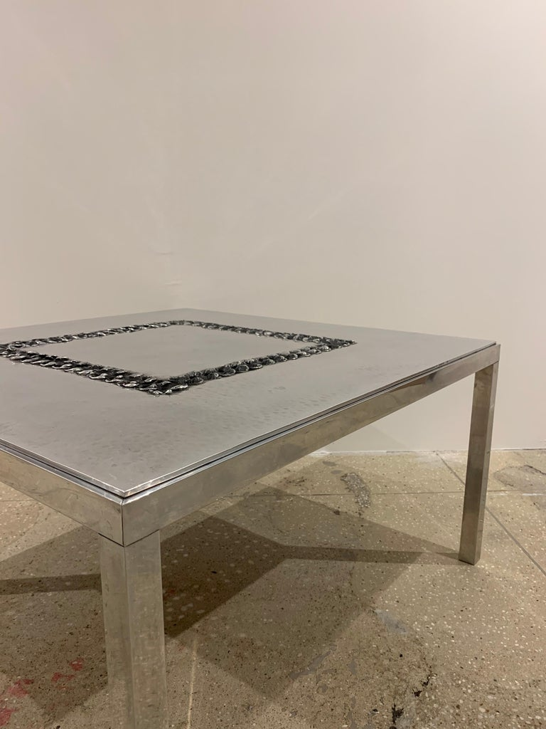Willy Luckyx Aluclair Belgian One of a Kind 1970s Table For Sale 12