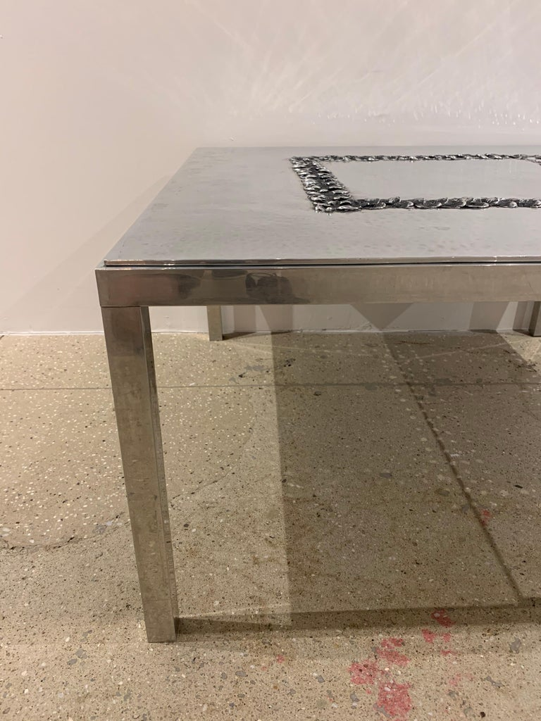 Willy Luckyx Aluclair Belgian One of a Kind 1970s Table For Sale 2