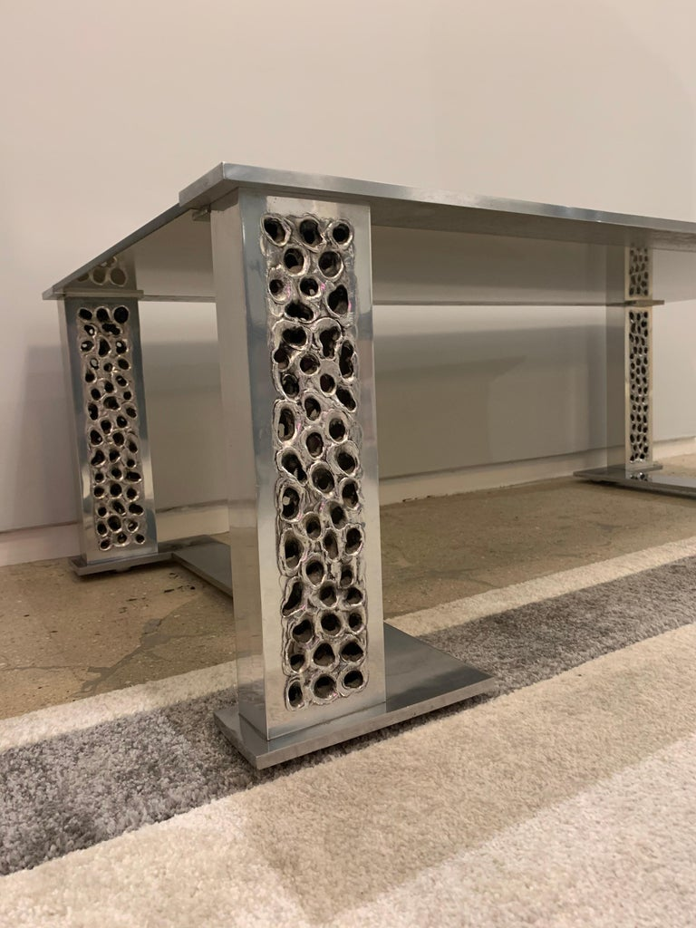 Willy Luyckx Aluclair Belgian 1970s Sculptural Table For Sale 7