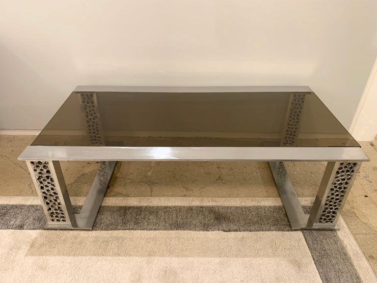 Mid-Century Modern Willy Luyckx Aluclair Belgian 1970s Sculptural Table For Sale
