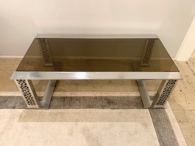 Willy Luyckx Aluclair Belgian 1970s Sculptural Table In Good Condition For Sale In New York, NY