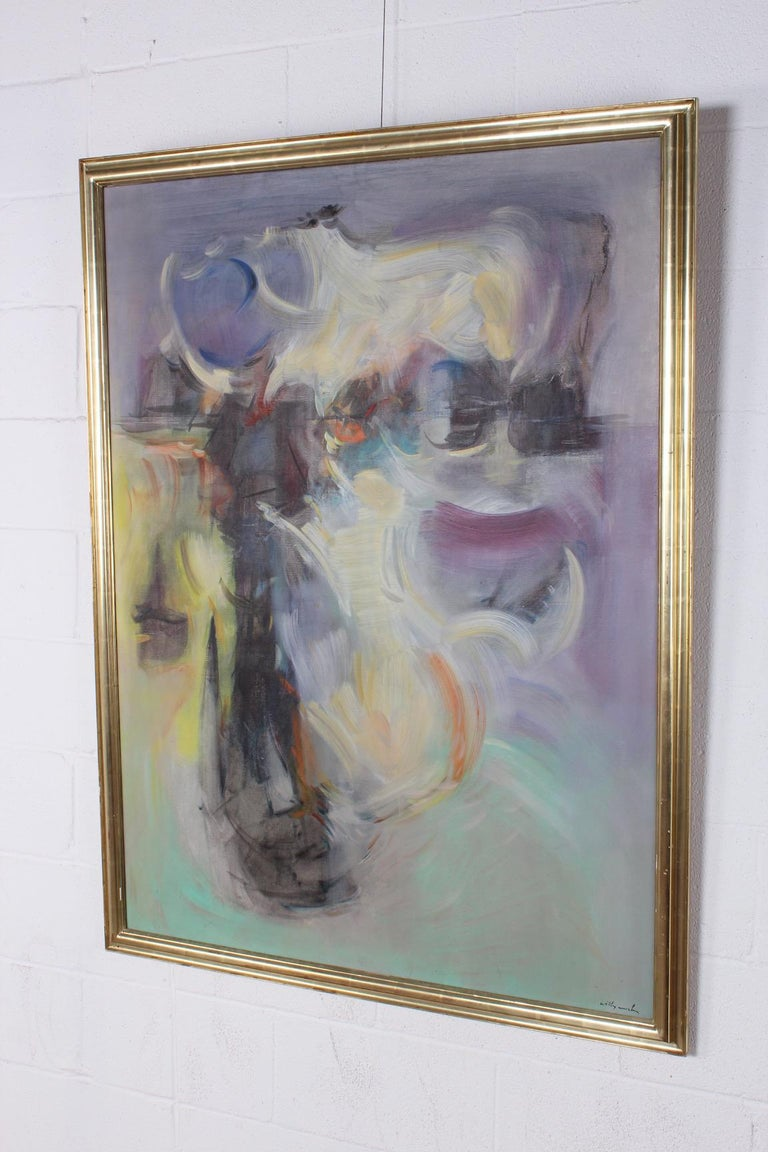 Willy Mucha Abstract Painting, 1950s For Sale 1