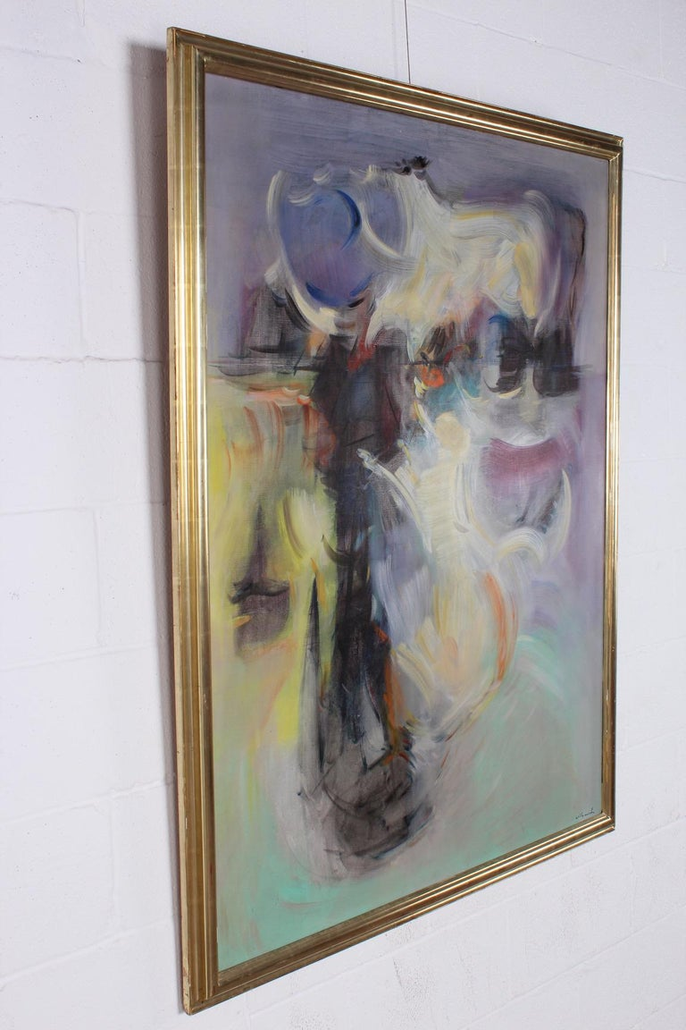 Willy Mucha Abstract Painting, 1950s For Sale 2