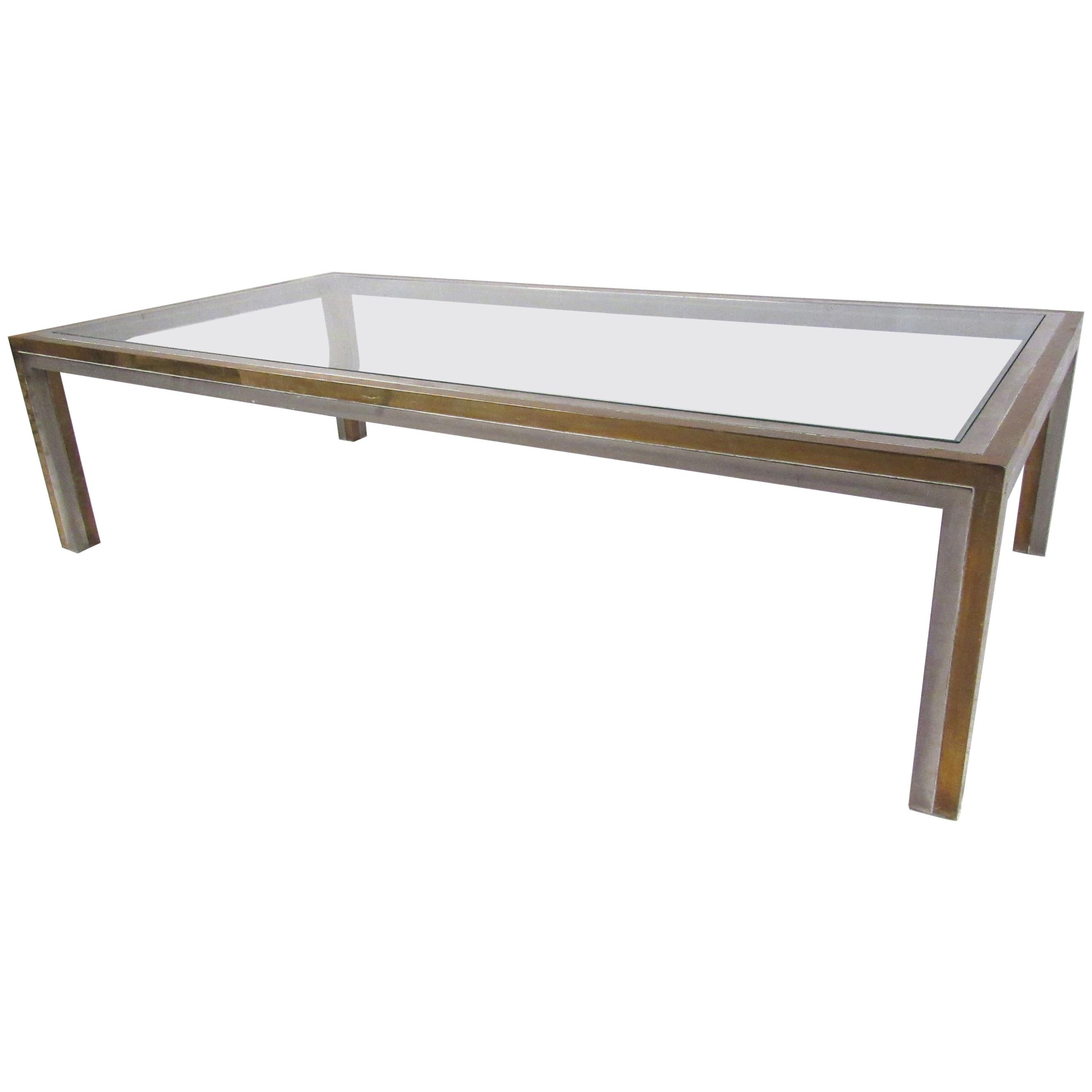 Willy Rizzo Attributed Regency Style Coffee Table