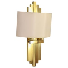 Willy Rizzo Hollywood Regency Great Brass Wall Sconce for Lumica BD, Spain, 1970
