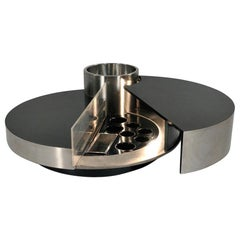 Willy Rizzo Iconic 'Trg' Revolving Cocktail Table