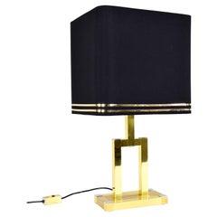 Mid-Century Italian Modern Brass Table Lamp by Lumica, 1970