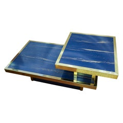 Willy Rizzo Midcentury Lapislazuli Blue End Table from Roche Bobois Collection