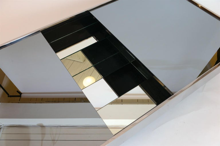 Steel Willy Rizzo Mirrored Bar / Table, circa 1970 For Sale