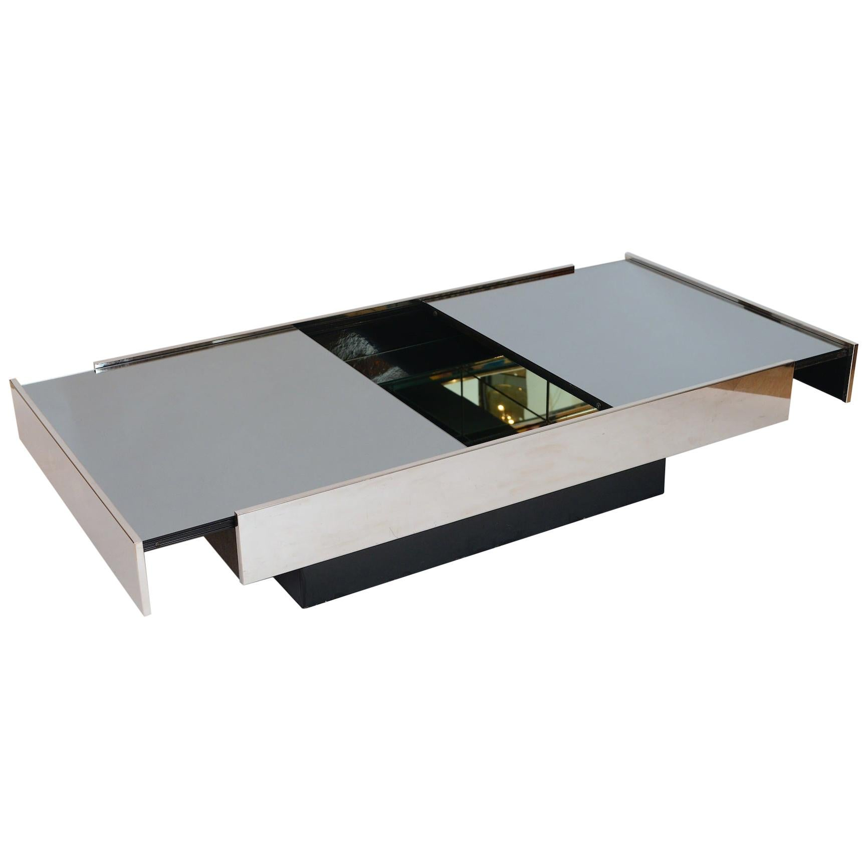 Willy Rizzo Mirrored Bar / Table, circa 1970