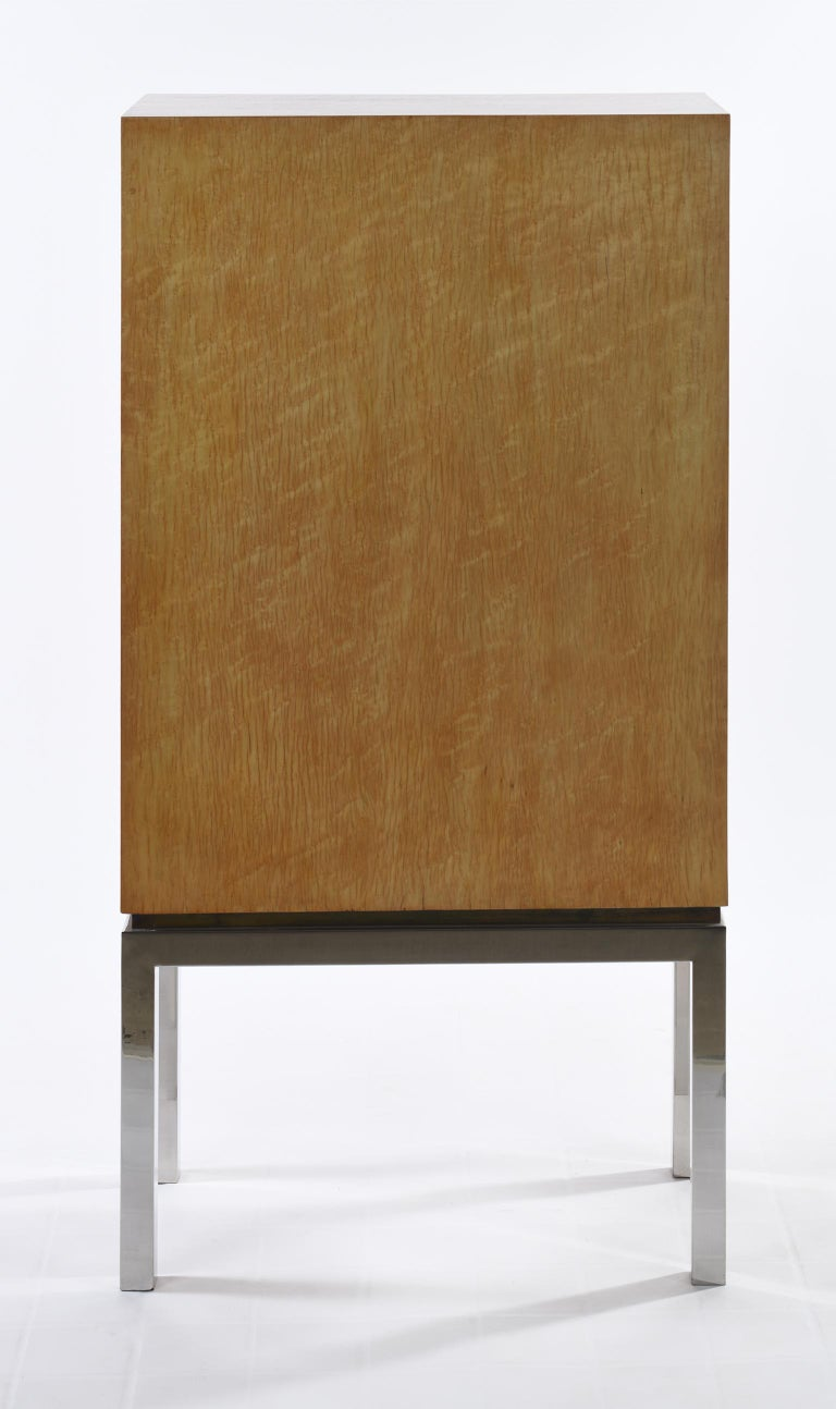 Willy Rizzo Signed Italian Midcentury Chest of Drawers Metal Base For Sale 1