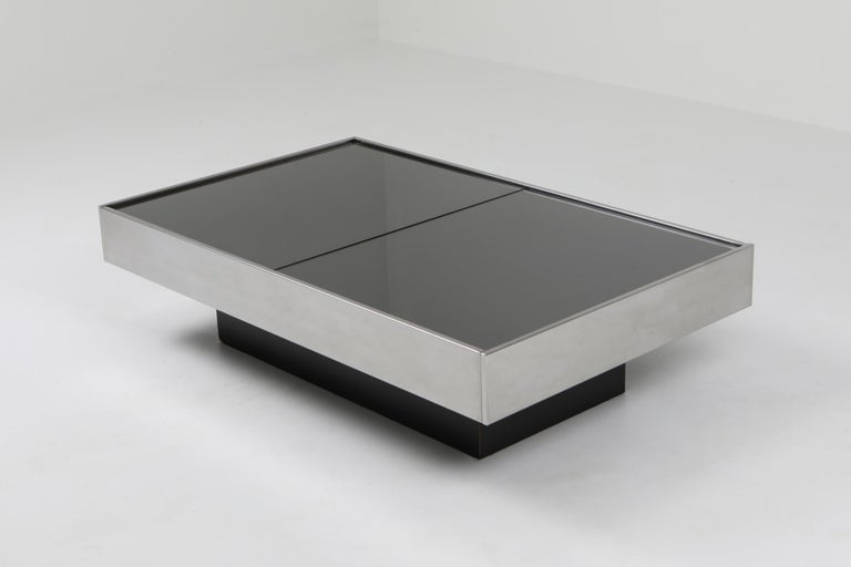 Postmodern coffee table, Willy Rizzo, Cidue, Italy, 1970s