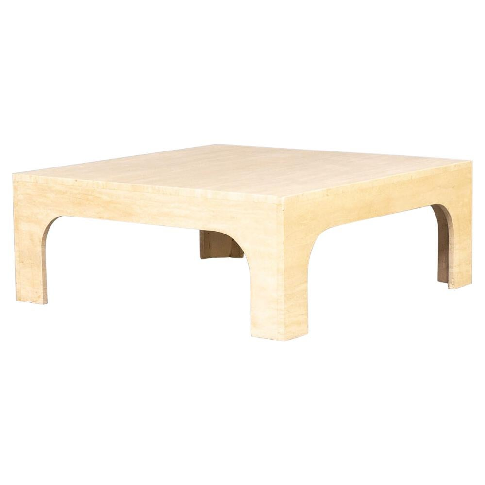 Willy Rizzo Travertine Coffee Table
