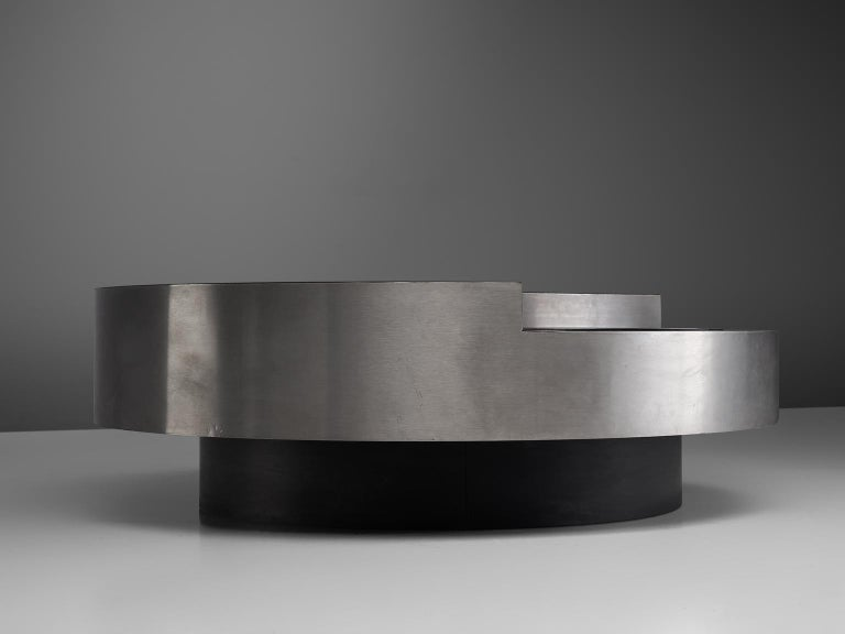 Late 20th Century Willy Rizzo 'TRG' Revolving Cocktail Table, 1960s For Sale