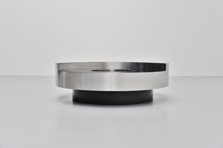 Willy Rizzo TRG Revolving Coffee Table, Italy, 1970 1