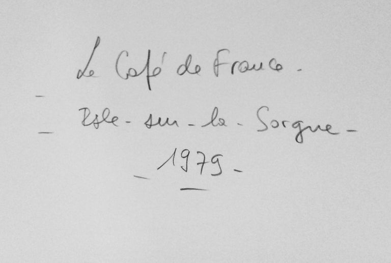 Le Café de France à L'Isle-su, 1979, gelatin silver print, signed by Willy Ronis For Sale 3