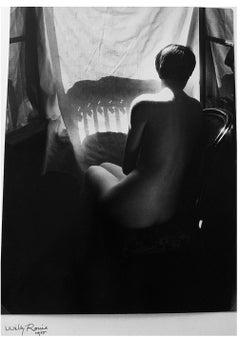 Nu Banlieue Sud Paris (Deena de dos), 1955 by Willy Ronis, signed vintage print