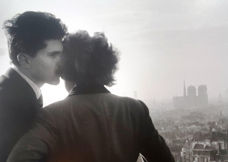 The Lovers of the Bastille - Willy Ronis, 20th Century, Humanist Photographer For Sale 1