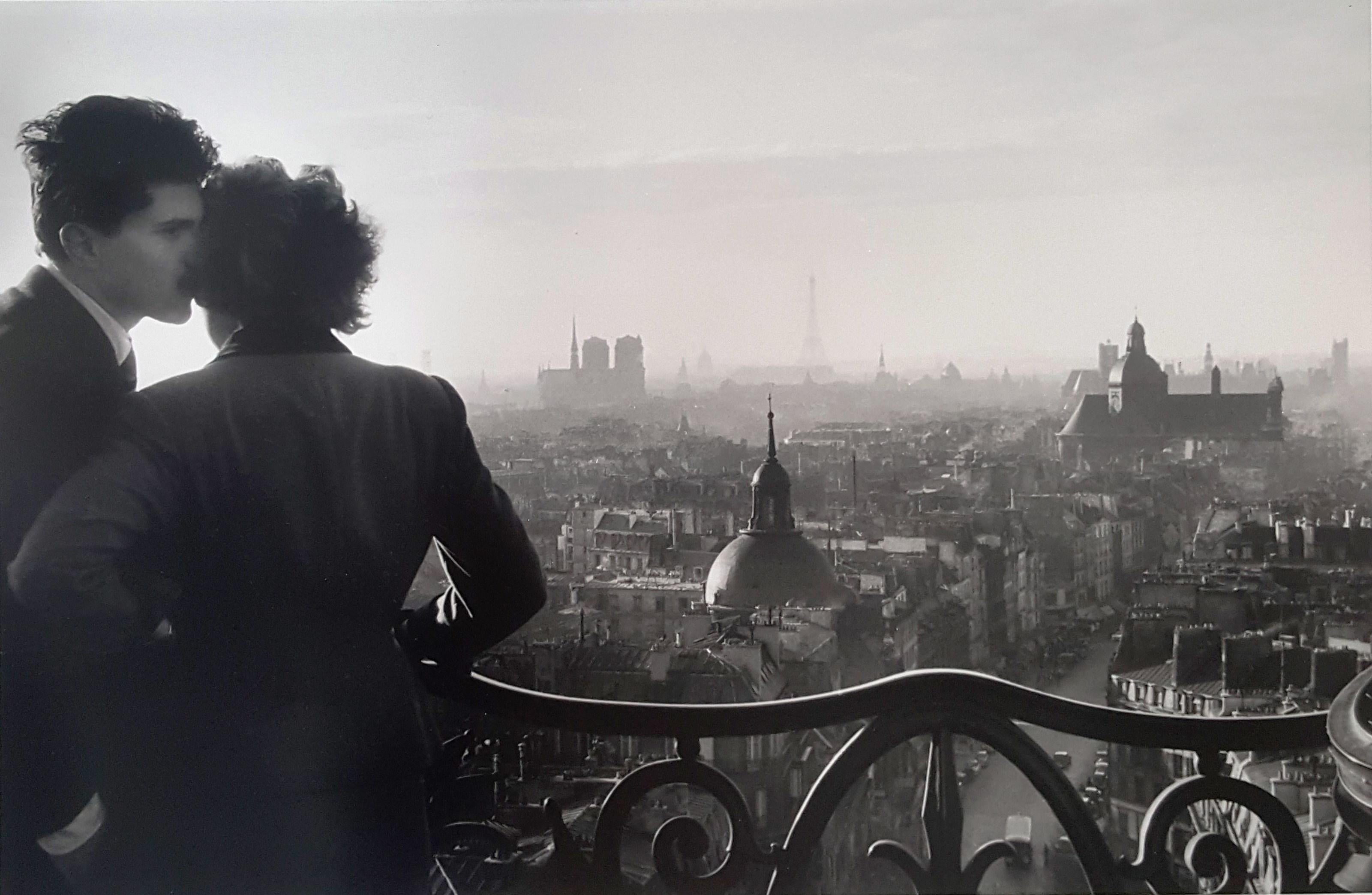The Lovers of the Bastille - Willy Ronis, 20th Century, Humanist Photographer