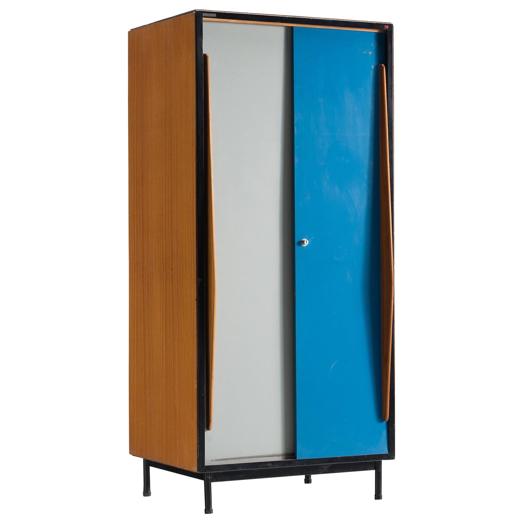 Willy Van Der Meeren Colorful Cabinet with Two Doors