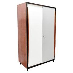 Willy Van Der Meeren Large White and Grey Industrial Cabinet, circa 1950