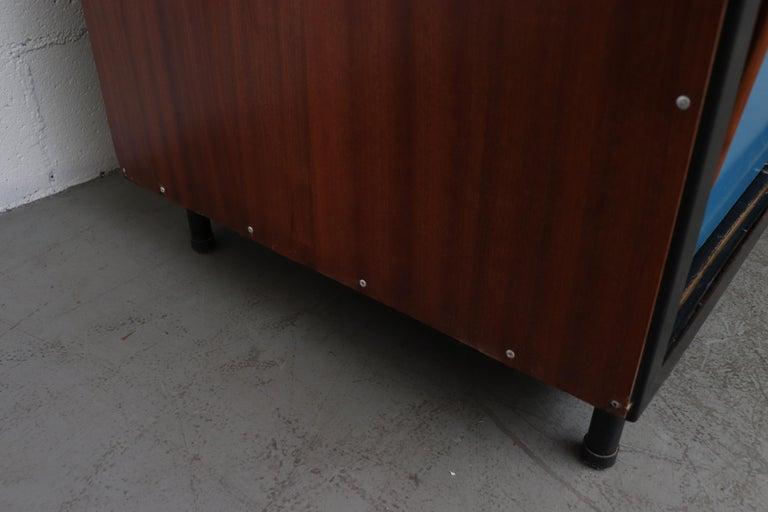 Willy Van Der Meeren Tall Metal Wardrobe for Tubax For Sale 9