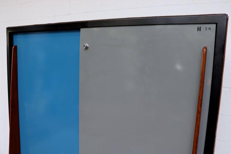 Enameled Willy Van Der Meeren Tall Metal Wardrobe for Tubax For Sale